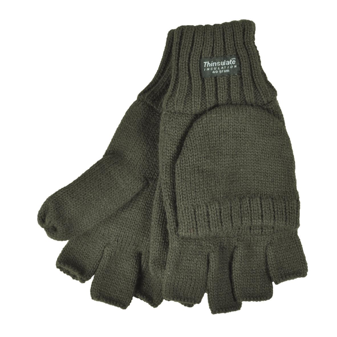 Strick Handschuh ohne Fingerkuppen+Fäustel