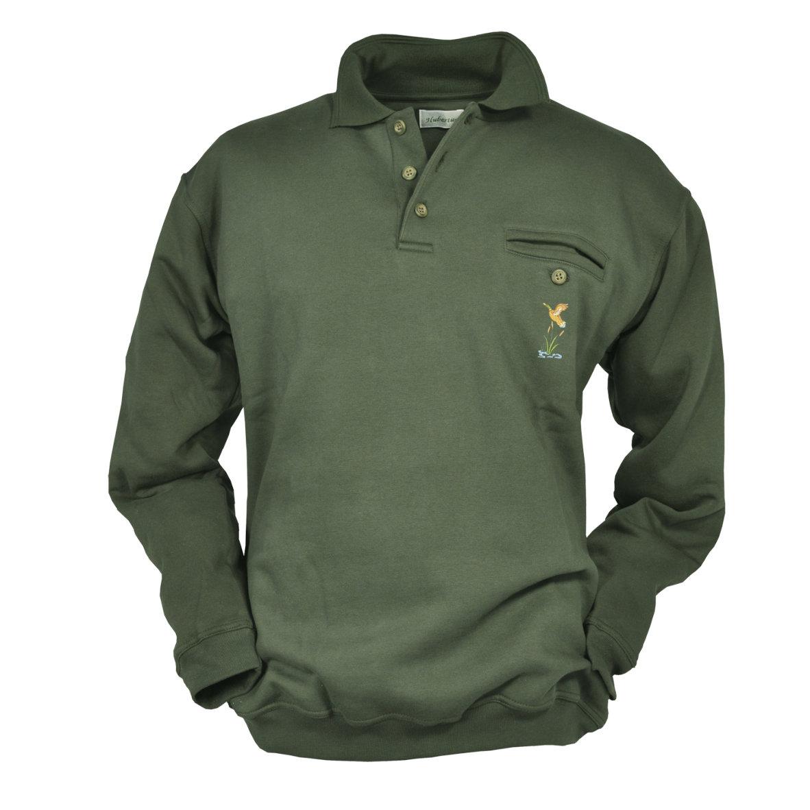 Sweatshirt Polokragen