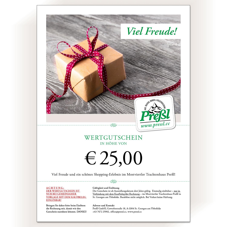 Gutschein € 25,00