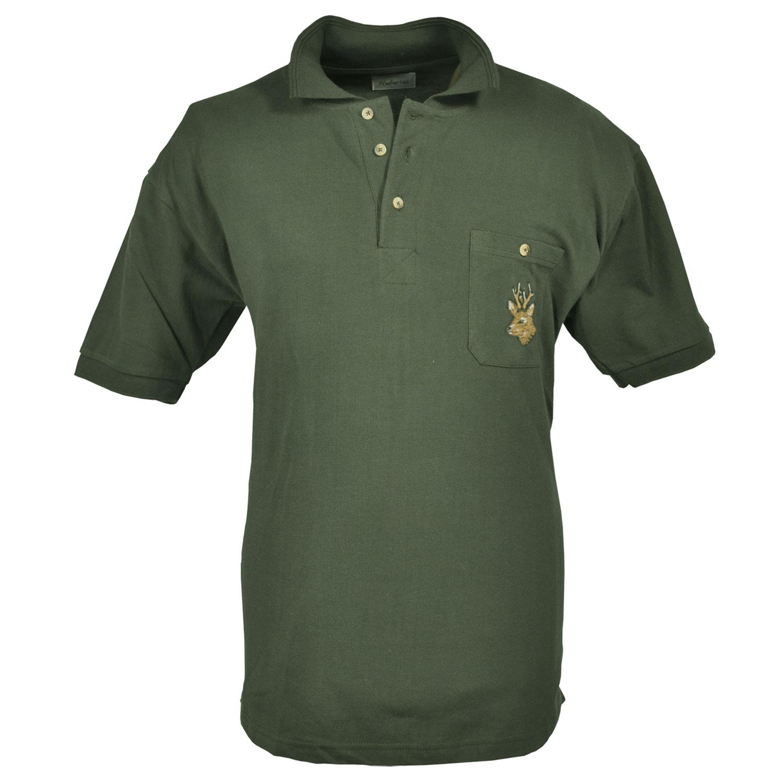 Herren Poloshirt Stickerei Tiermotiv